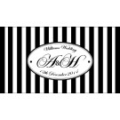 Customised Stylish Stripes Wedding Stubby Cooler